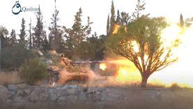 المعارضة تستهدف مواقع النظام بتلة السيريا تل جنوب حلب