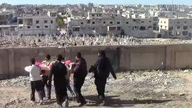 تشييع أحد قتلى المعارضة على جبهات ريف حمص الشمالي