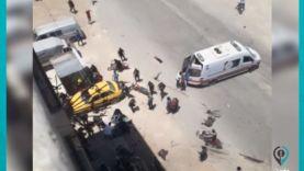 قتلى وجرحى جراء انفجار دراجة نارية في مدينة عفرين شمال حلب