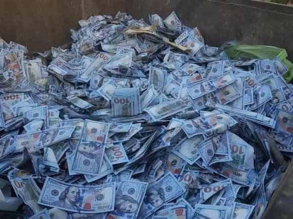لبنانيون يرمون ملايين الدولارات من فئة الـ 100 في الزبالة .. فما قصتها ..؟