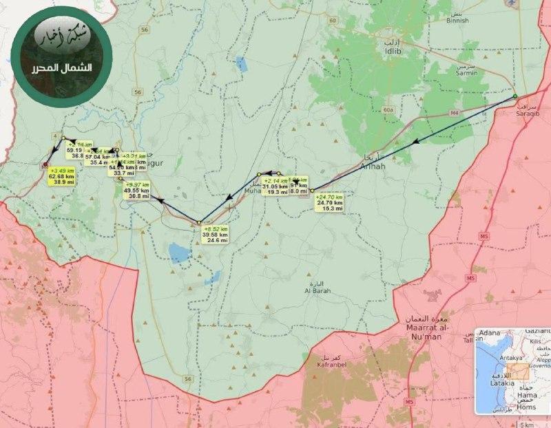 لأول مرة تقطع هذه المسافة.. تسيير الدورية الروسية_التركية الـ 20 على طريق M4