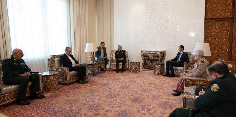 بعد توقيع اتفاقية منظومة الدفاع الجوي.. بشار الأسد يلتقي باقري في دمشق