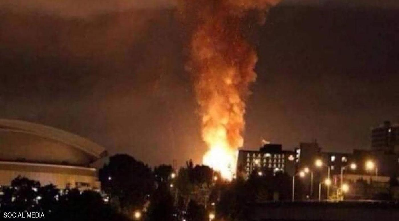 انفجارات عنيفة  تهز مراكز حيوية قرب العاصمة الإيرانية طهران