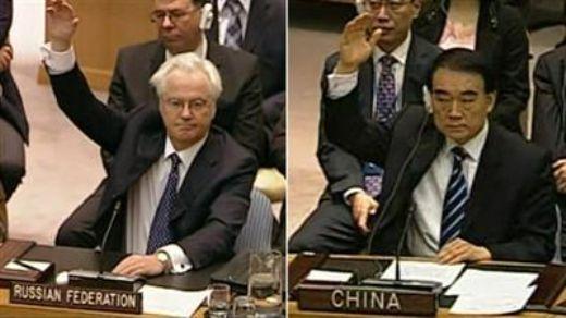 """""""فيتو"""" روسي- صيني جديد  يفشل  تمديد دخول المساعدات الإنسانية إلى الشعب السوري"""