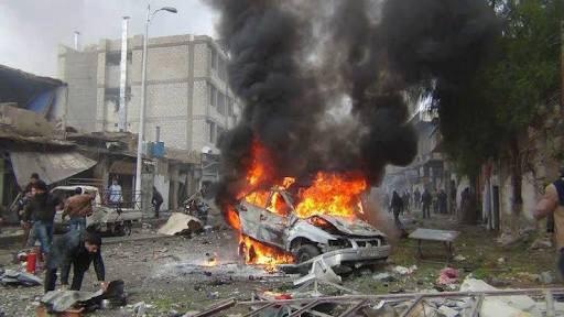 انفجار سيارة مفخخة في مدينة الباب بريف حلب الشمالي الشرقي