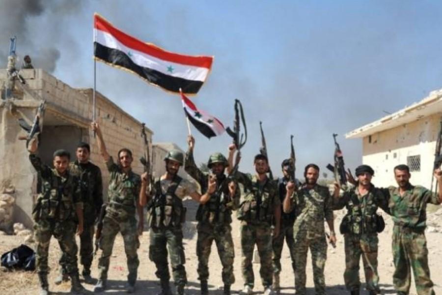 مقتل  و جرح عدد من قوات النظام  بريف إدلب في انفجار لغم أرضي
