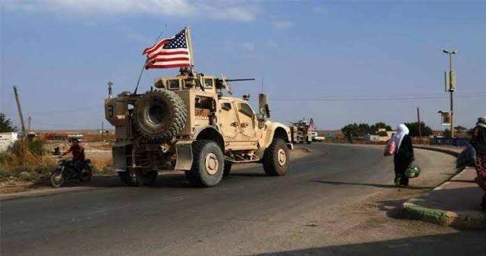عناصر من النظام يمنعون دورية أمريكية من المرور بتل تمر  (فيديو)