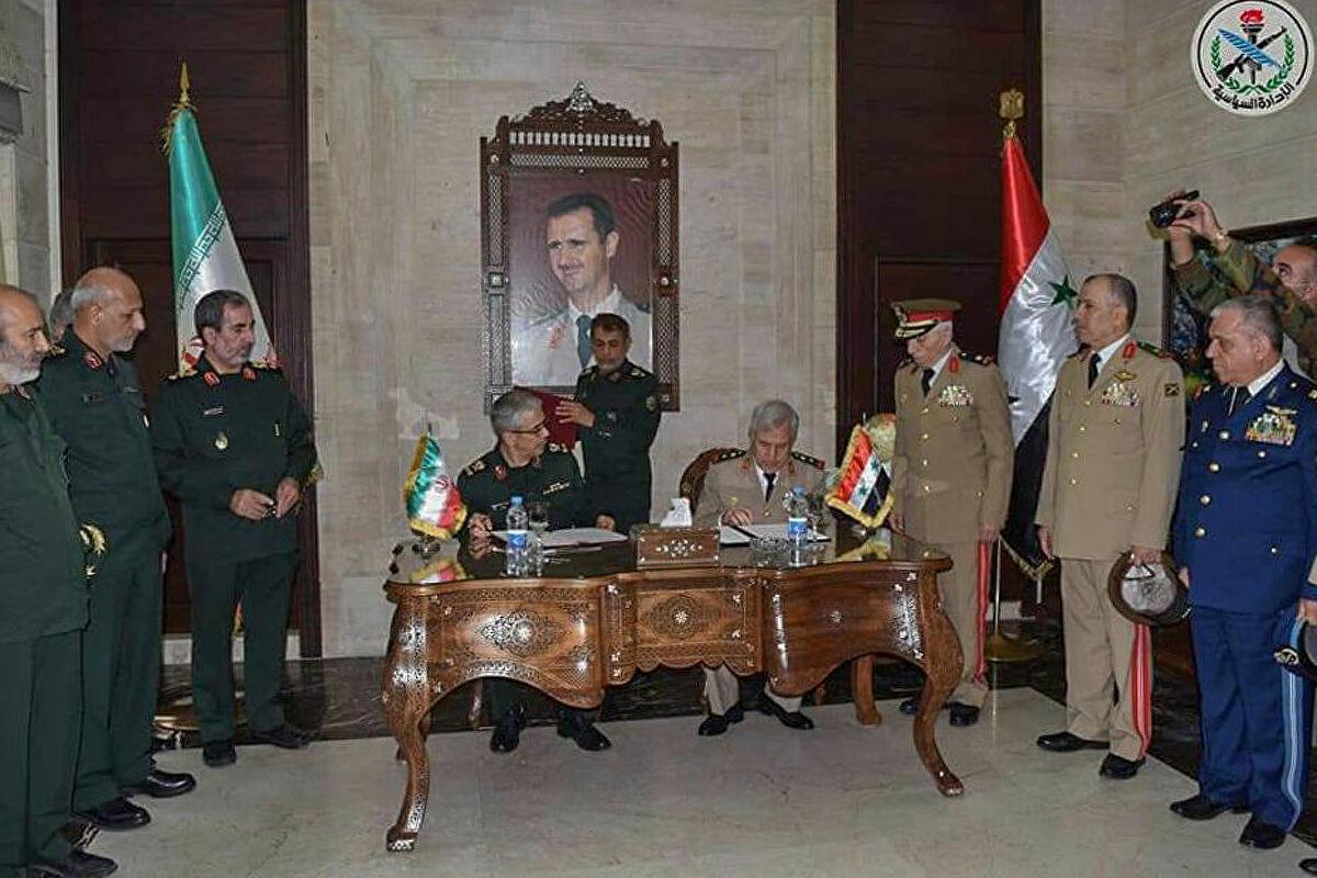 طهران: اتفاقية التعاون العسكري مع نظام الأسد  تشمل التدريب والأمن والتكنولوجيا