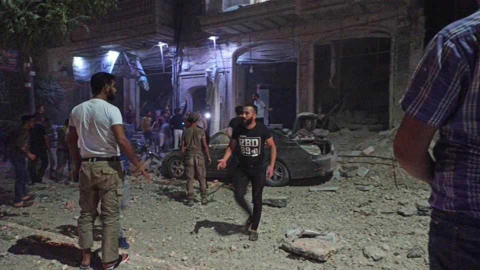 غارة جوية على مدينة الباب بريف حلب