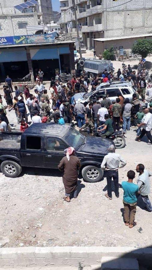 """اغتيال قيادي في """"الجيش الوطني"""" بعبوة ناسفة وسط عفرين (فيديو+صور)"""