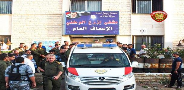 """مقتل مدير ناحية """"الحراك"""" وإصابة خمسة  عناصر للنظام  بهجوم في درعا"""