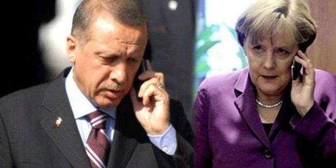 أردوغان وميركل يبحثان  أخر تطورات الأحداث في سوريا و ليبيا