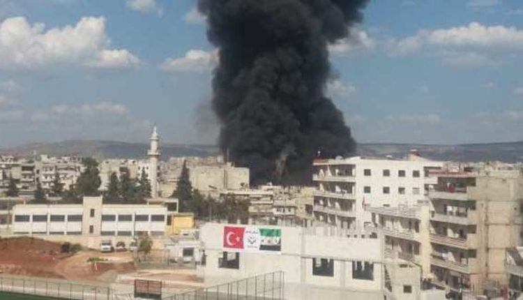 مقتل طفل وامرأة في اشتباكات داخل الأحياء السكنية بمدينة عفرين (فيديو)