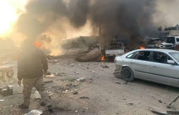 """مقتل وجرح نحو 15 شخصا على الأقل جراء انفجار مفخخة وسط مدينة """"رأس العين"""""""