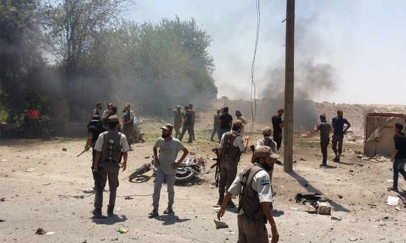 ارتفاع حصيلة تفجير رأس العين إلى 8 قتلى بينهم طفل وأكثر من 20 جريحاً (فيديو)