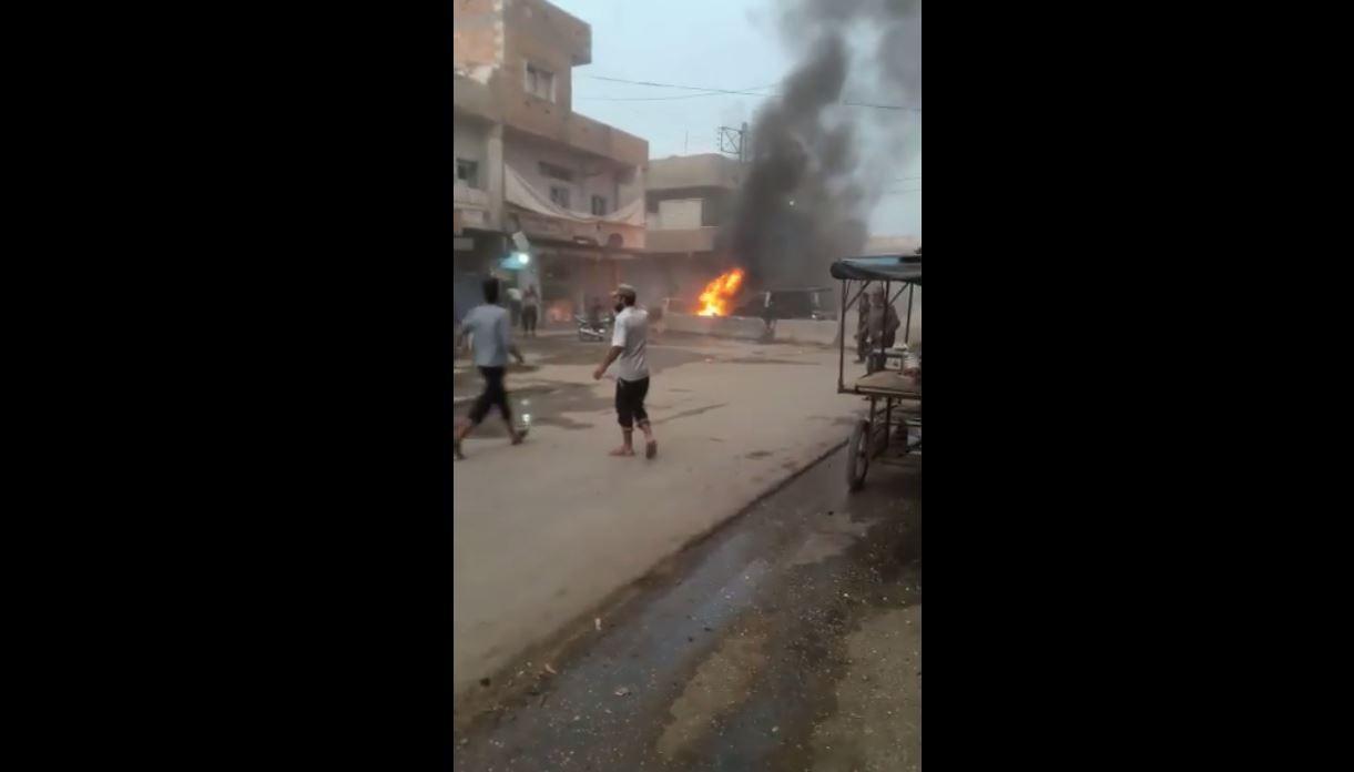 عاجل : انفجار دراجة نارية في مدينة رأس العين يخلف إصابات و أضرار مادية