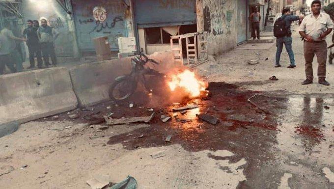 مقتل مدني وجرح 3 آخرين جراء انفجار دراجة مفخخة في مدينة رأس العين (فيديو)