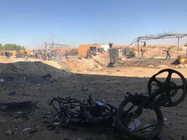 """مقتل وجرح 24 عنصراً من """"الجيش الوطني"""" جراء تفجير سيارة مفخخة غرب رأس العين (فيديو)"""