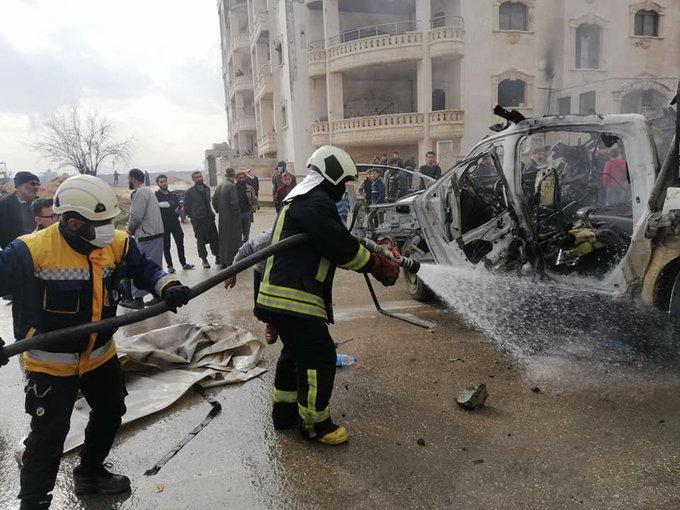 إصابة طفلة بإنفجار عبوة ناسفة وسط مدينة إدلب