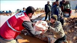 تركيا تقدم مساعدات  عاجلة  للمتضررين من الأمطار في إدلب