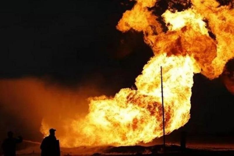 انفجار ضخم بالشركة السورية لنقل النفط  التابعة للنظام  في حمص