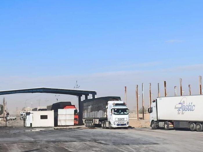 تراجع في حركة الشحن من مناطق النظام  باتجاه العراق منذ مطلع العام الجاري