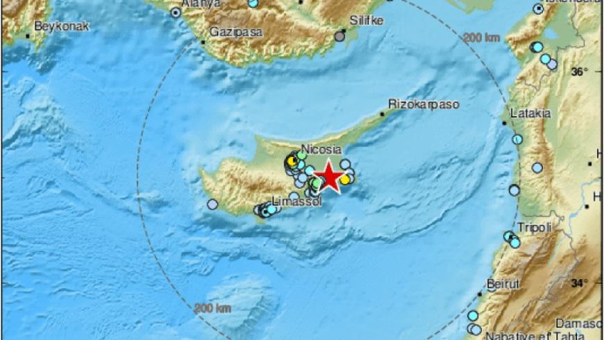 زلزال بقوة 5،4 درجة يضرب قبرص ويشعر به سكان عدة مدن سورية