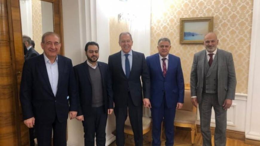 لافروف يلتقي وفداً من منصتي القاهرة وموسكو التابعتين للمعارضة السورية