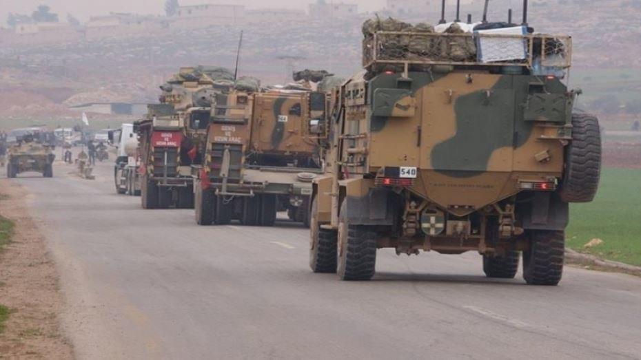 تركيا  تدفع بتعزيزات عسكرية إلى بلدة قسطون  غربي حماة