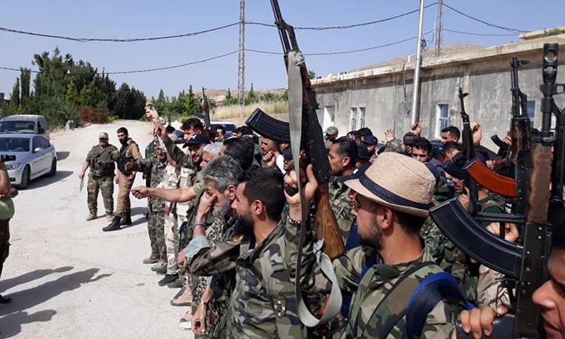 فاطميون تطرد الدفاع الوطني التابع للنظام من منطقة شرق تدمر