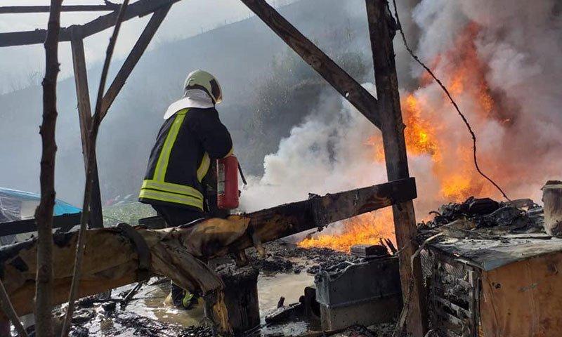 أربع إصابات في مدينة جرابلس إثر احتراق منزلهم