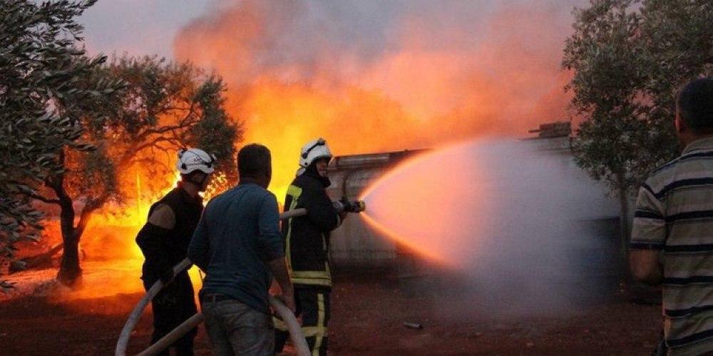 منسقو الاستجابة أكثر من 35 حريقا في مخيمات النازحين خلال شهر واحد