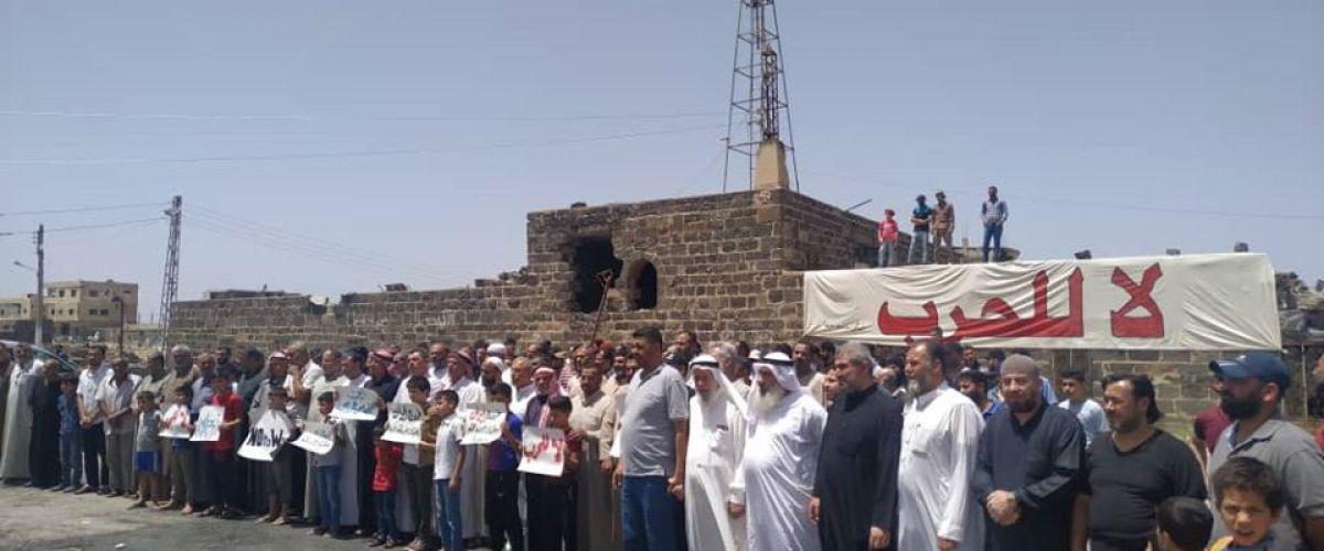 اللجنة المركزية ووجهاء درعا  يرفضون التهجير  والمفاوضات مازالت مستمرة