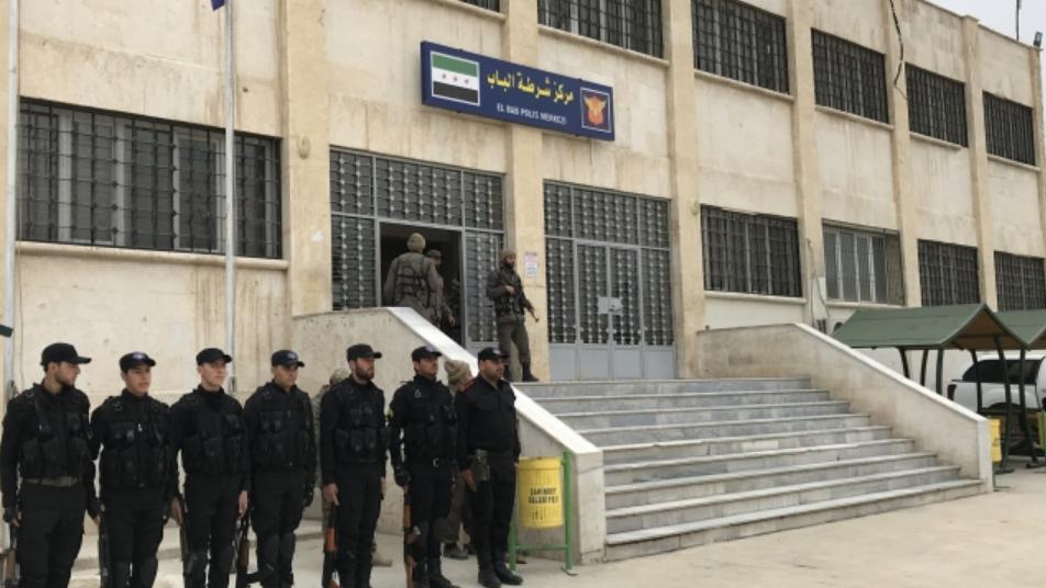 اغتيال ضابط وشرطي في مدينة الباب