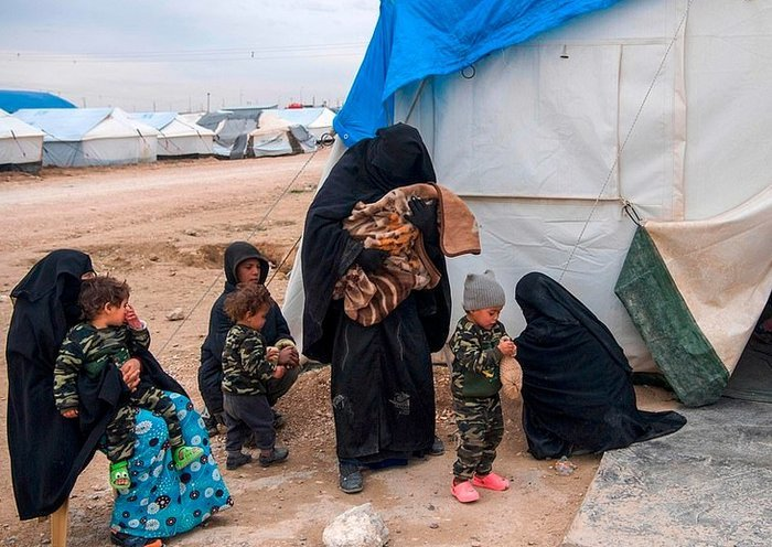 Ukrainian children and women are living humiliating conditions in eastern Syria