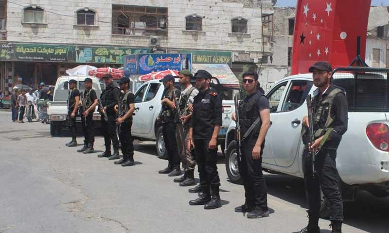 الشرطة تعلن عن استنفار قواتها في مدينة الباب طيلة شهر رمضان
