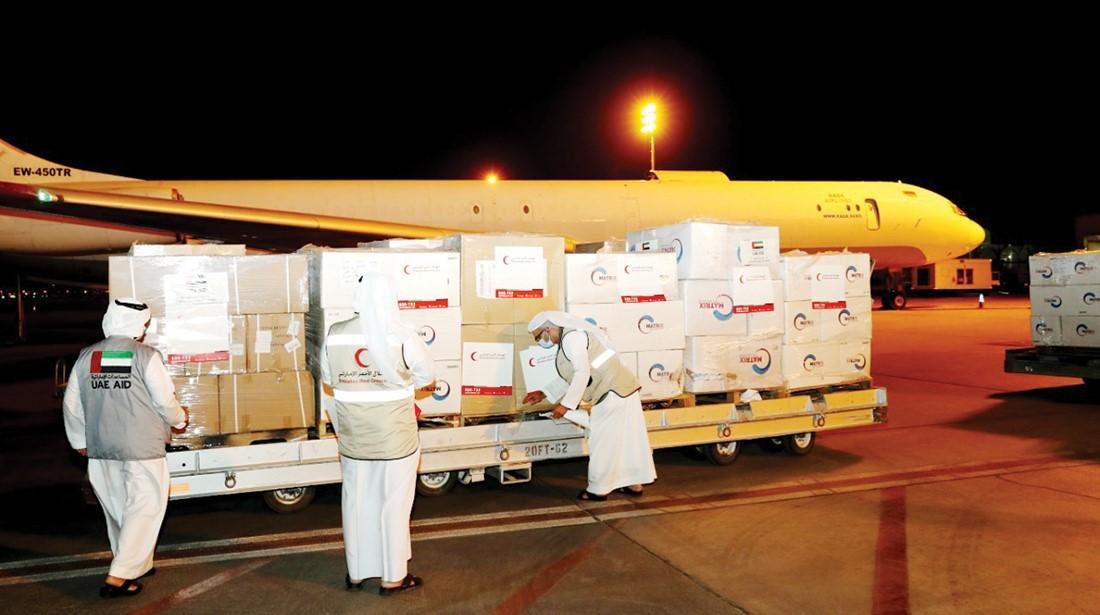 طائرة مساعدات إماراتية  ثانية محملة بلقاحات كورونا تحط في مطار  دمشق