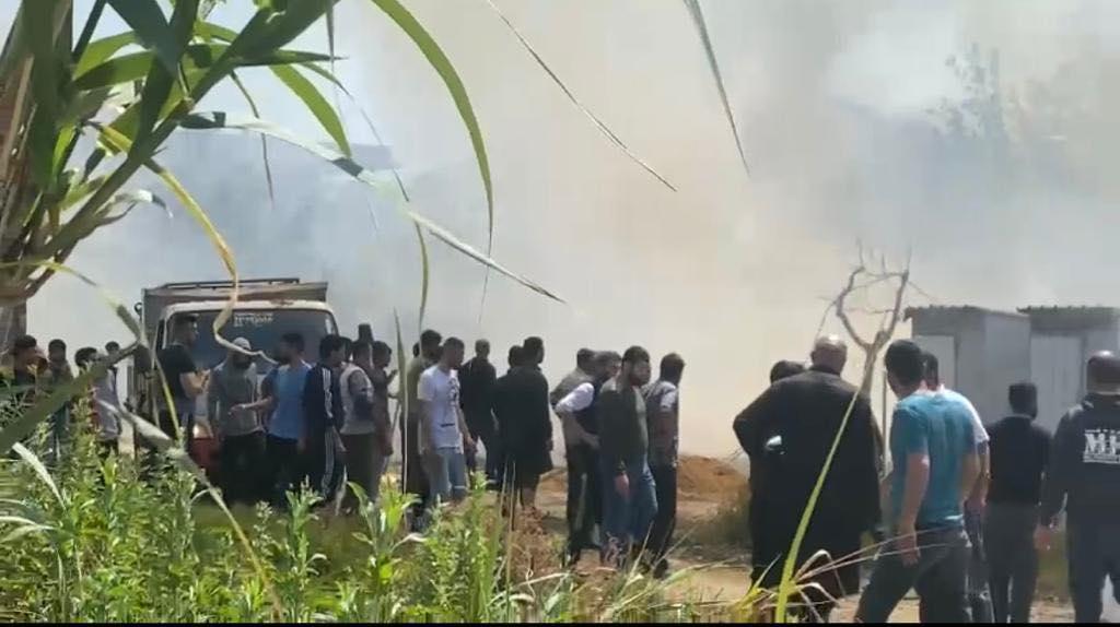 وفاة طفل بحريق في مخيم للاجئين السوريين شمال لبنان..صور