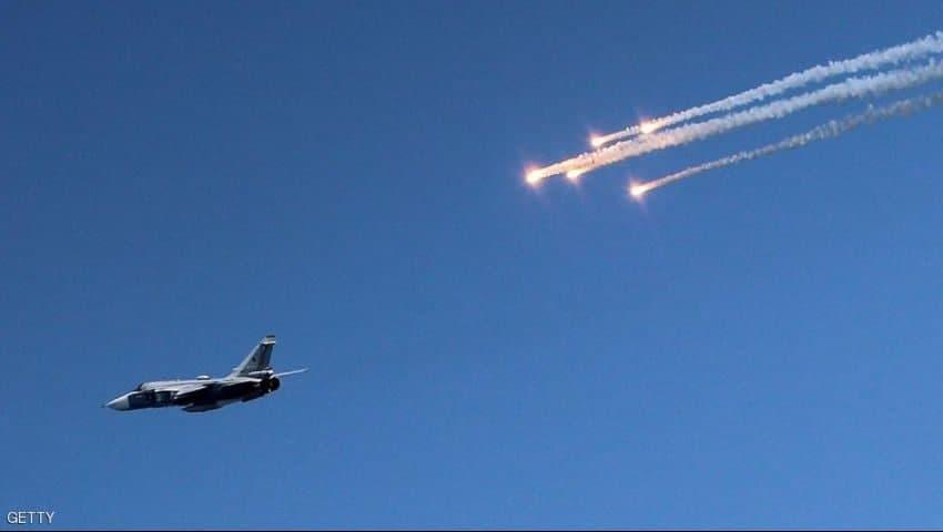Russian warplanes target Al-Kabinah hills in Lattakia countryside with several raids