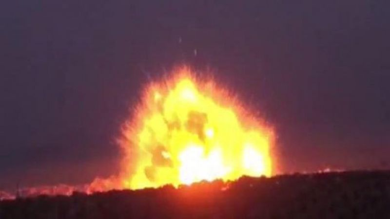 A thermal missile destroys a position of the regime forces south of Idlib