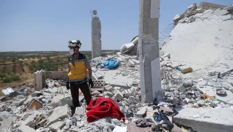 ضباط آحرار يطالبون المجتمع الدولي بالدفاع عن المدنيين في ادلب