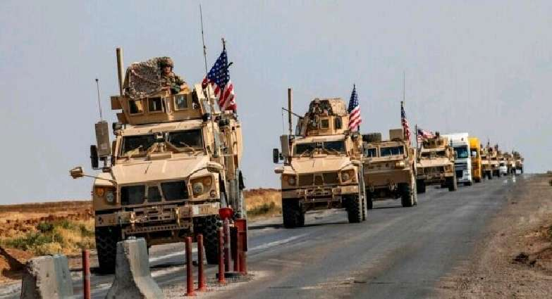 US forces enter a large military convoy into Syria with the aim of establishing a new base