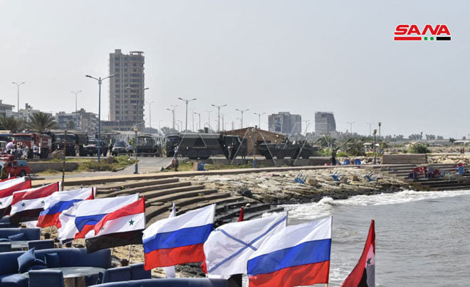 In Tartus, the regime celebrates with Russia the anniversary of the establishment of its navy