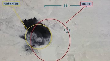 الدفاع التركية  تنشر صوراً لمواقع استهدفتها لـقسد بريف حلب ردا على مقتل عنصرين من قواتها