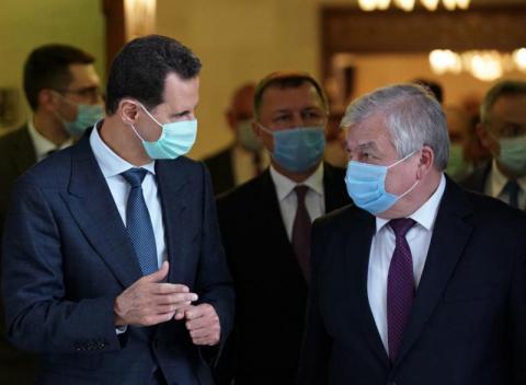 رئيس النظام السوري  ومبعوث بوتين يبحثان آليات عودة اللاجئين السوريين