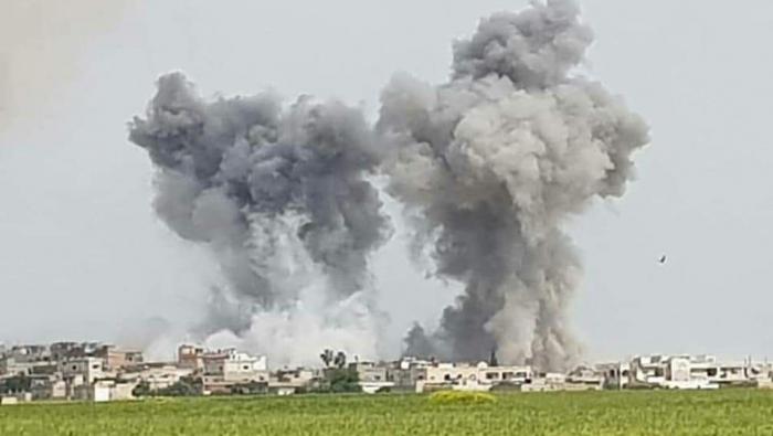 Russian warplanes renew their bombardment of the countryside of Lattakia, Hama and Idlib