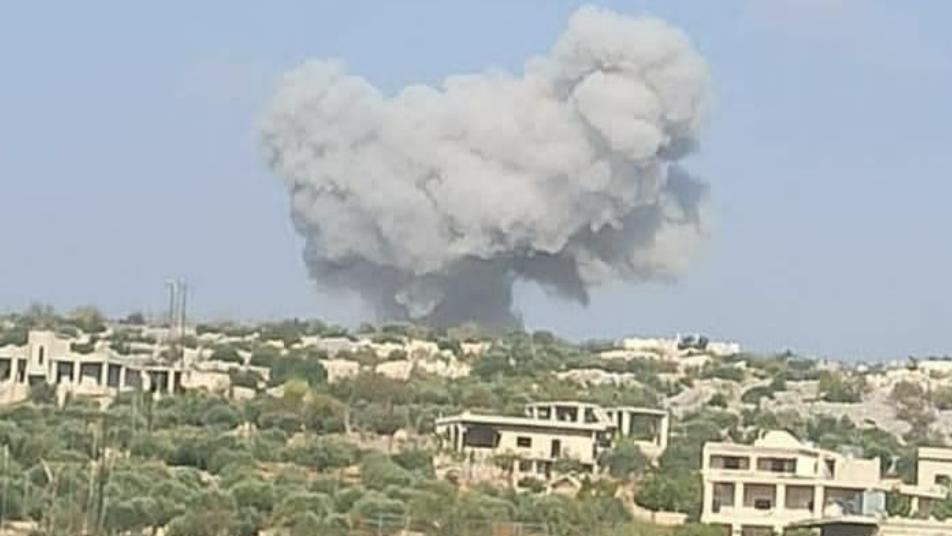 إصابة مدني بغارات جوية على جبل الزاوية جنوبي ادلب