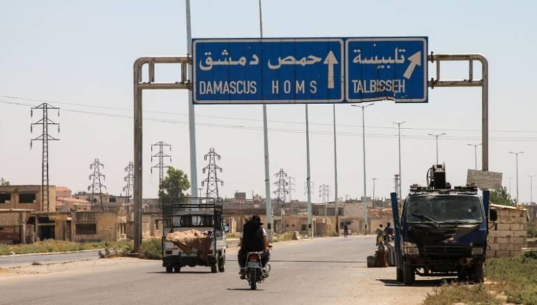 مجهولون يهاجمون حاجزاً للنظام في تلبيسة بريف حمص نصرة لدرعا