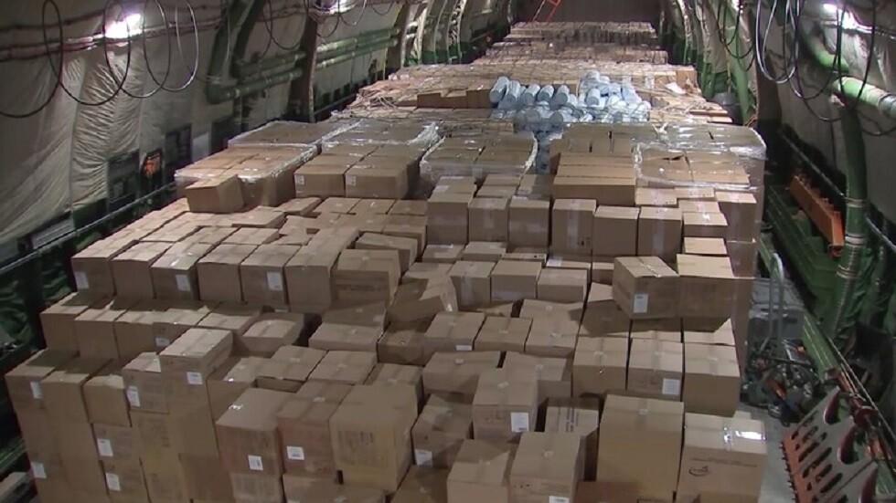 روسيا ترسل 7 أطنان من المساعدات الإنسانية إلى درعا البلد