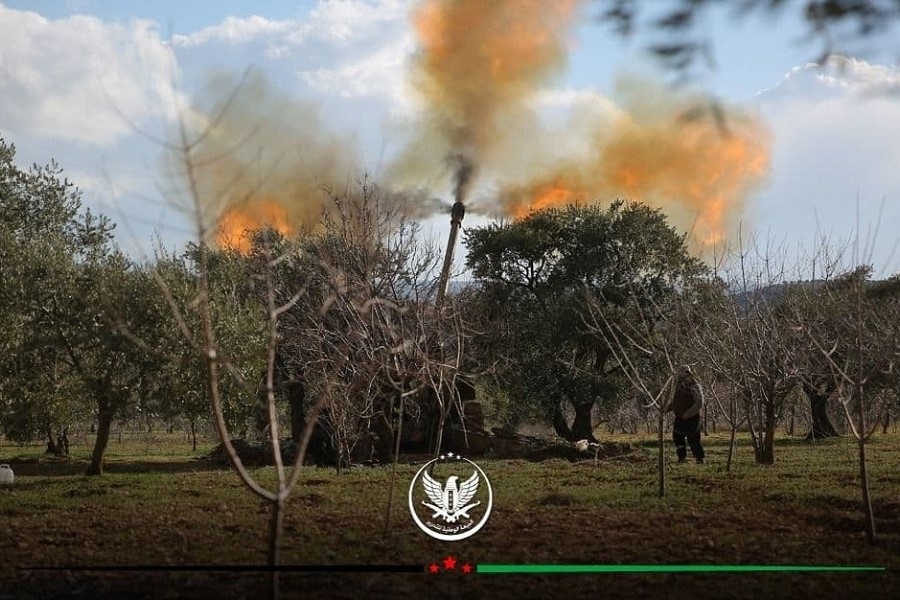 Al-Fateh Al-Mubeen operations room raining missiles on Al-Assad and Russia sites in Idlib countryside